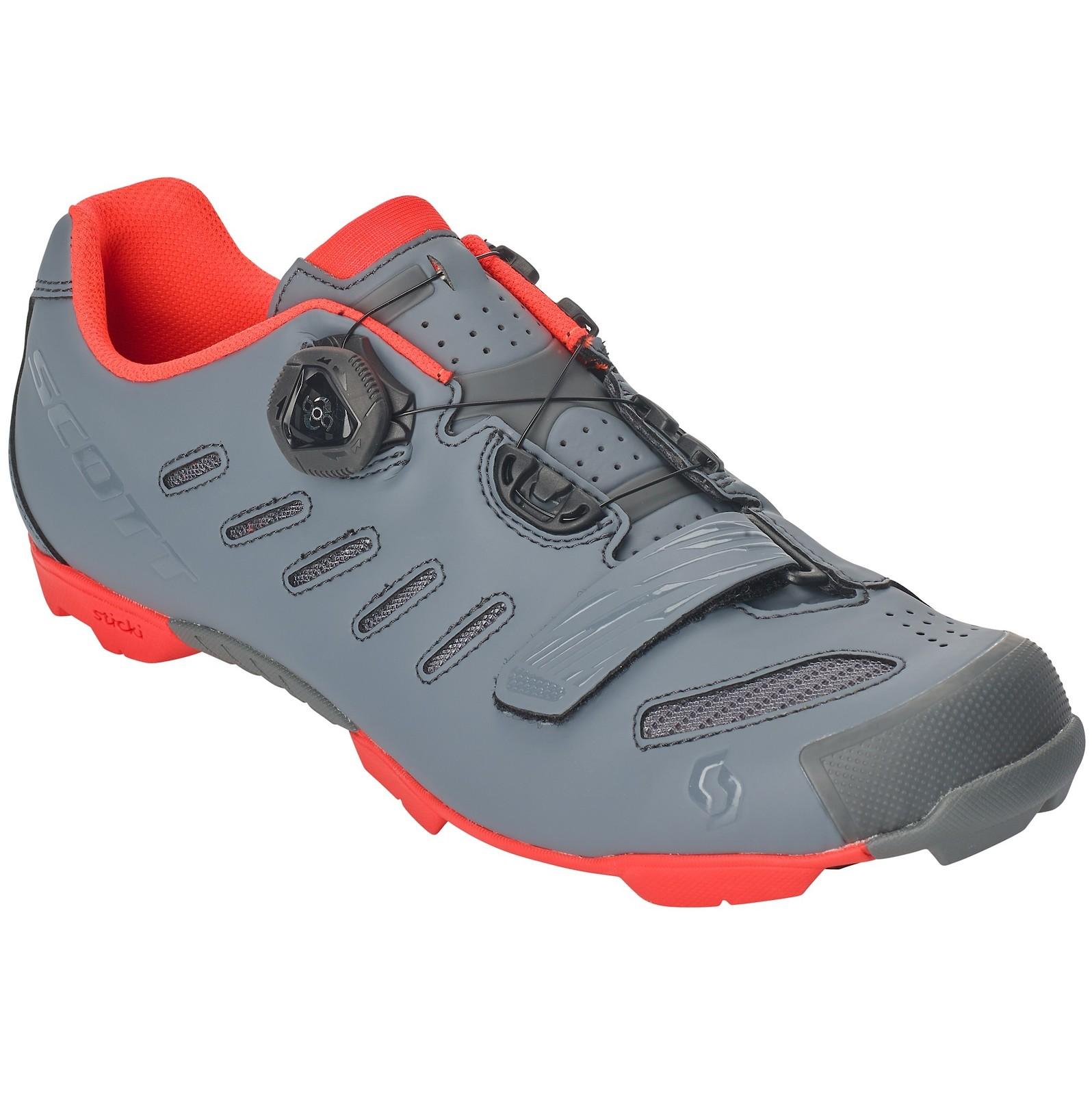 Scott Team Boa shoe in cool grey/neon orange