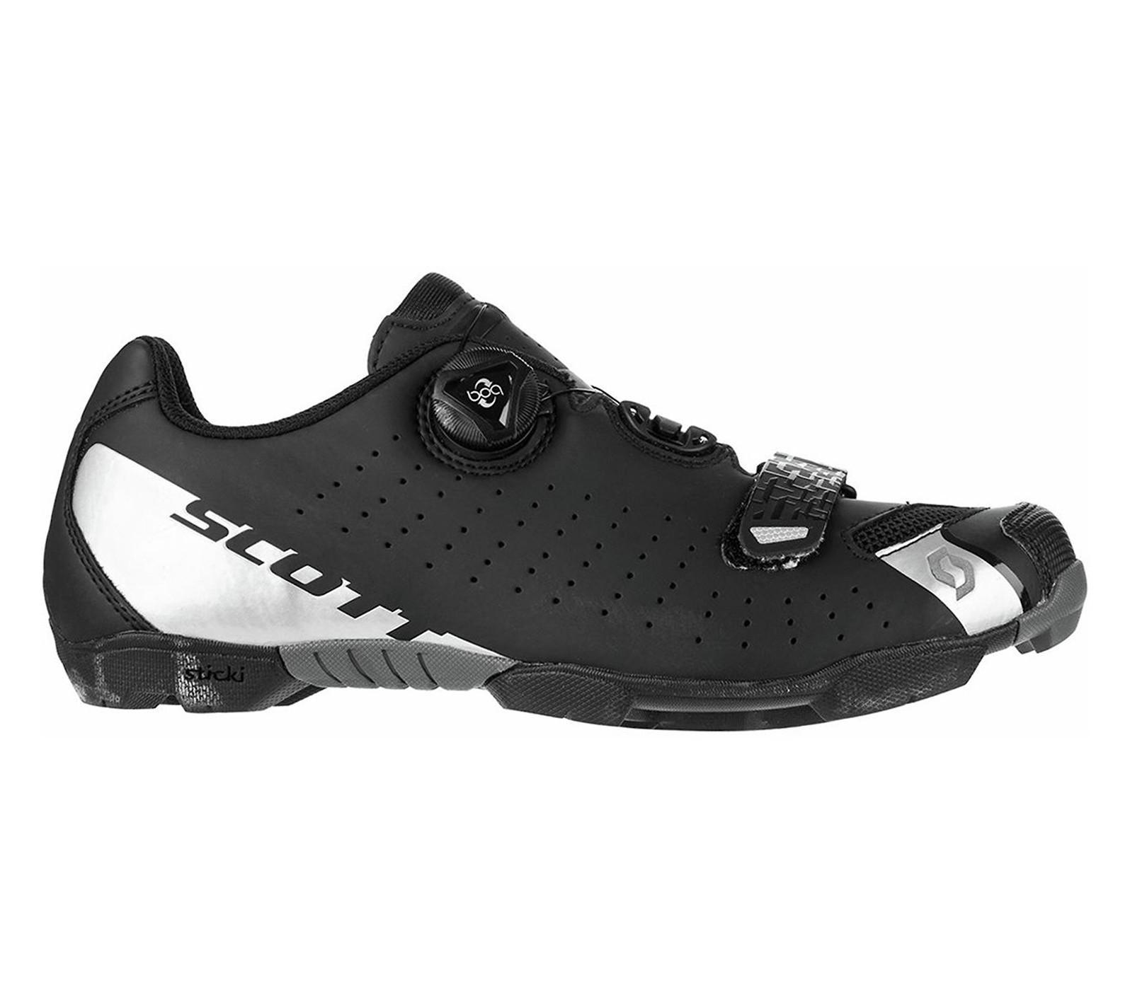 Scott Comp Boa shoe in matte black/silver