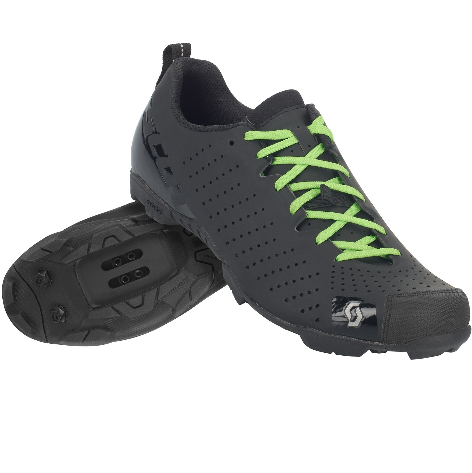 Scott Comp Lace shoe in gloss black/matte black