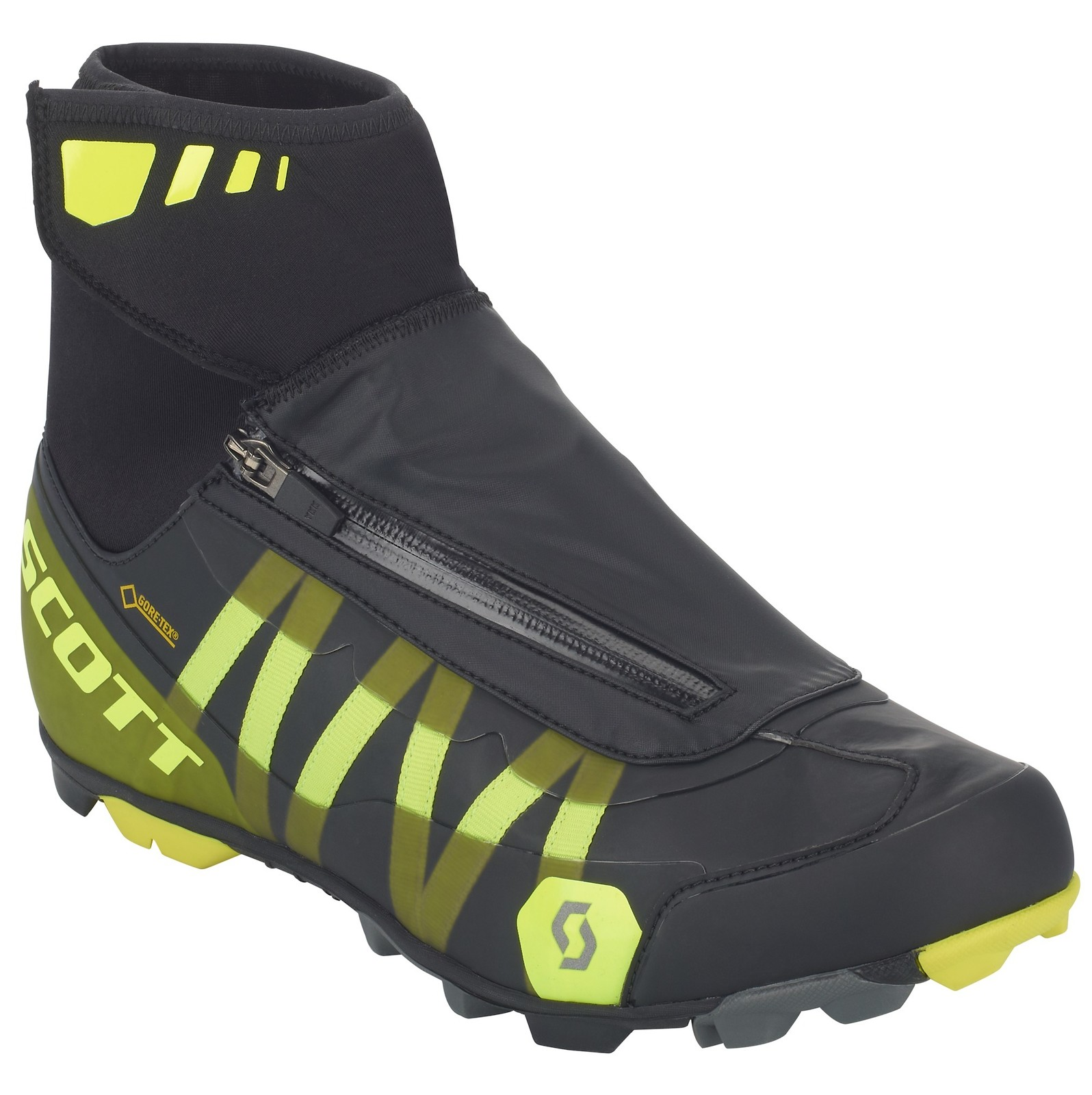 Scott Heater GORE-TEX shoe in black/sulphur yellow