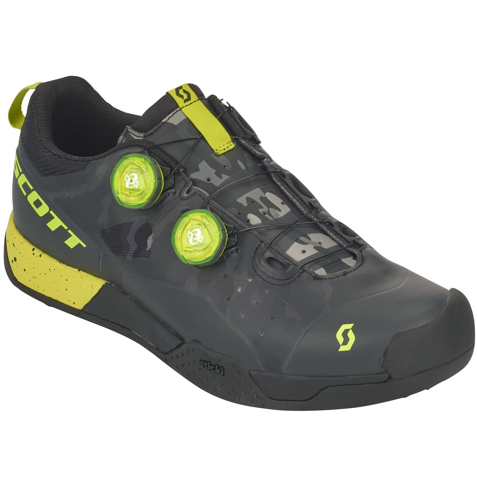Scott AR Boa Clip shoe in black/sulphur yellow