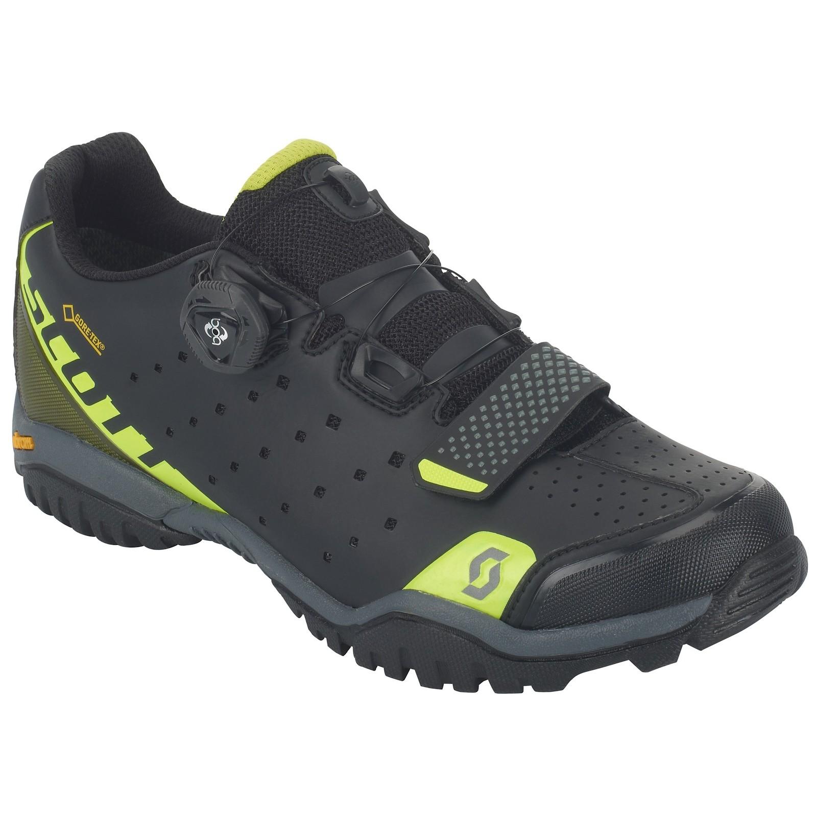 Scott Sport Trail Evo GORE-TEX shoe in caviar black/sulphur yellow