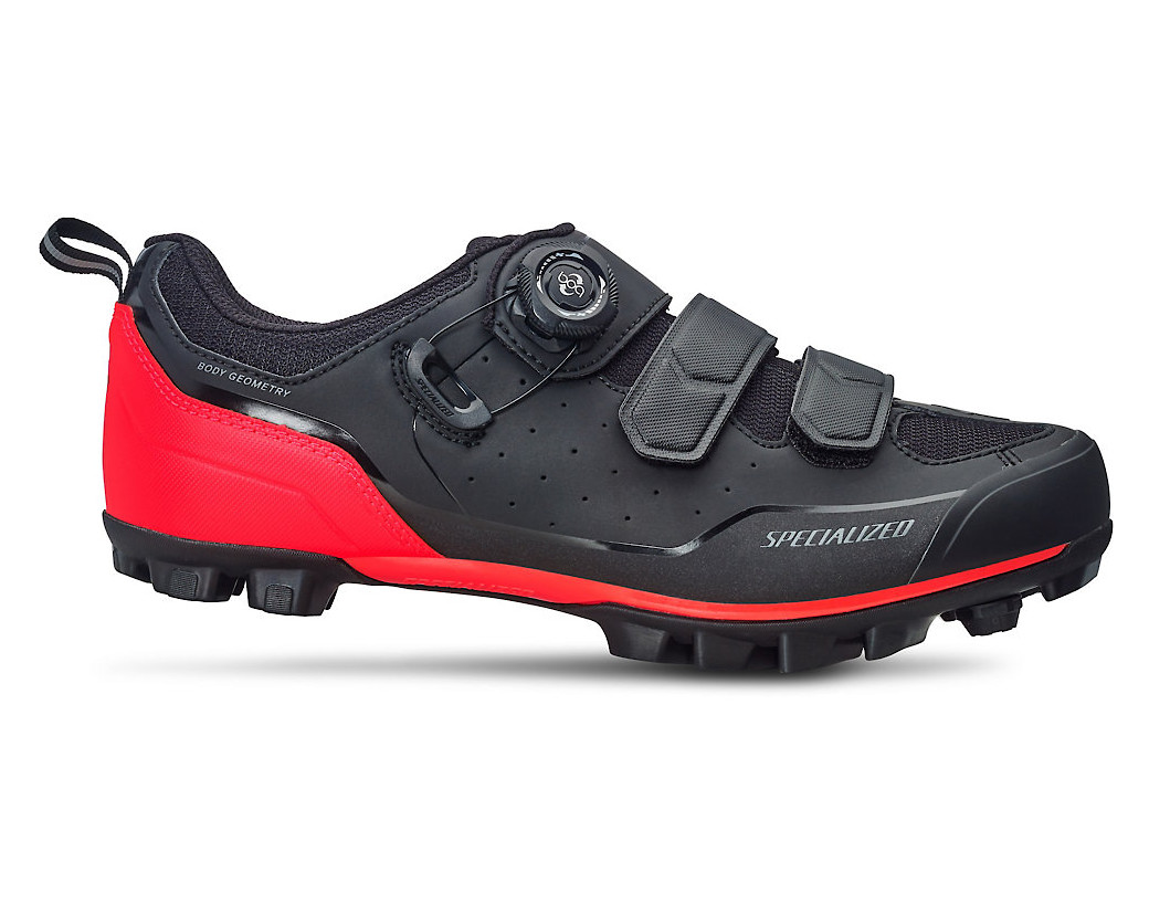 Specialized Comp Clipless Shoe (Black/Rocket Red)