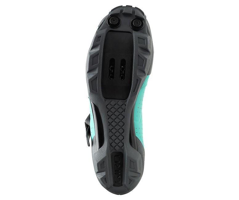 Giro Manta R women's shoe in glacier-titanium, sole