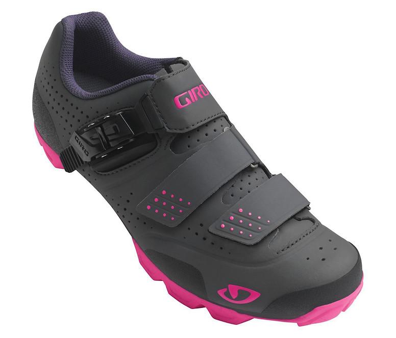 Giro Manta R women's shoe in dark shadow-bright pink