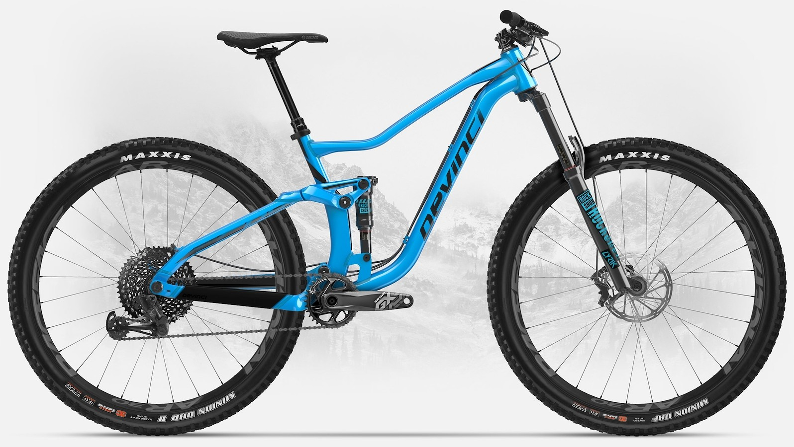 2019 Devinci Troy 29 GX Eagle LTD in gloss blue/black