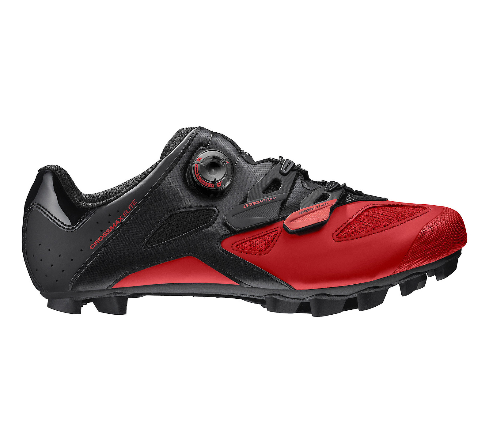 Mavic Crossmax Elite Shoe (Black/Fiery Red)