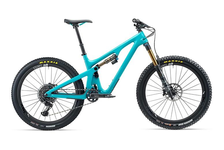 2020 Yeti SB140 T2 bike in turquoise