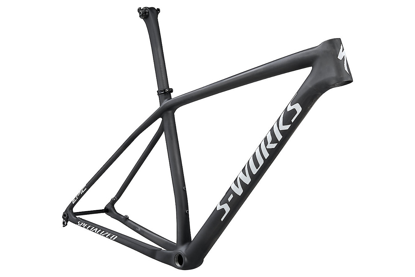 2021 Specialized S-Works Epic Hardtail Frame - Satin Gloss Carbon/White Spectraflair