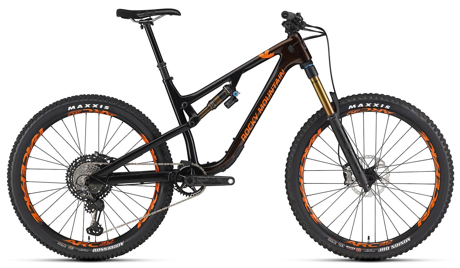 2020 Rocky Mountain Altitude Carbon 90 Black Brown and Orange