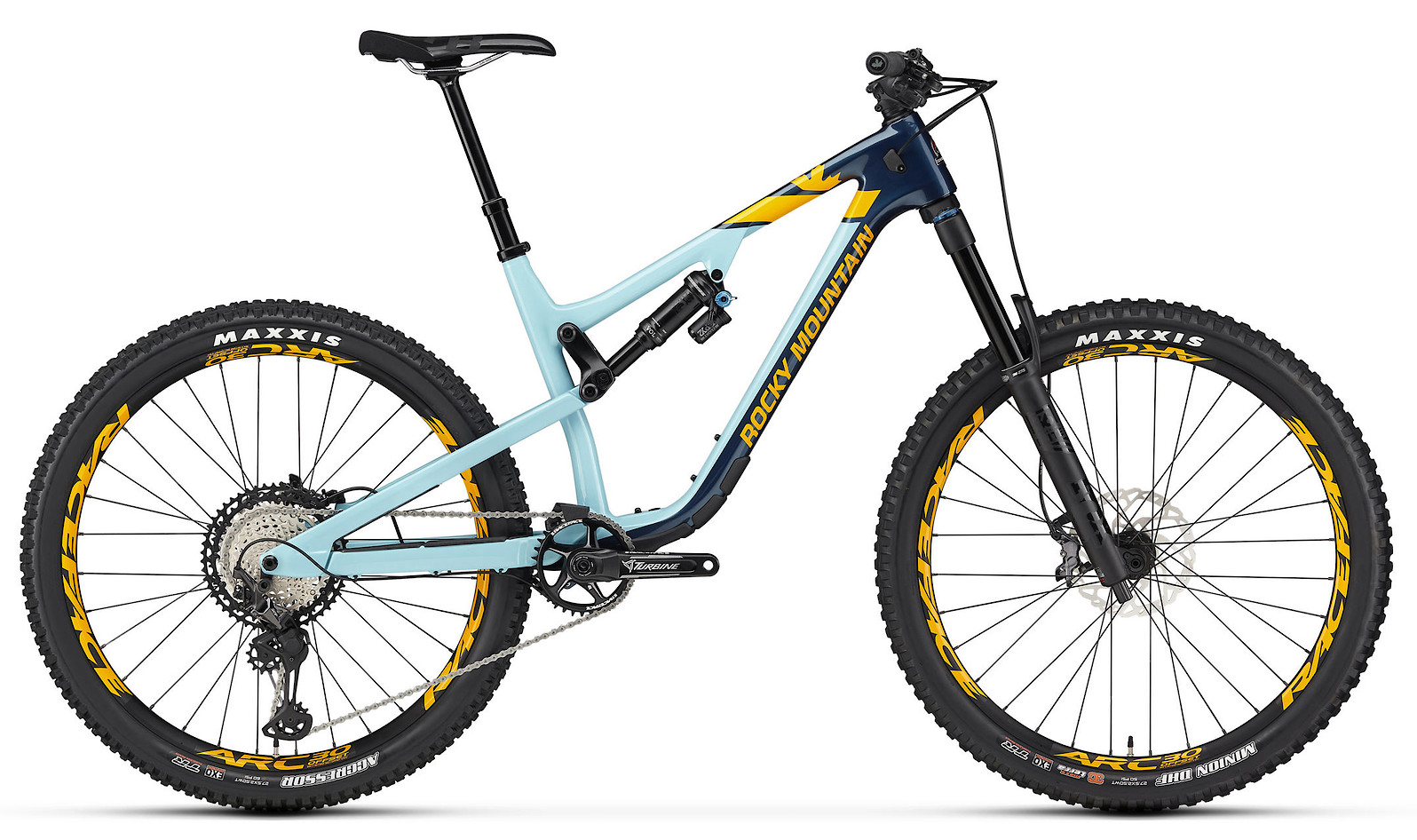 2020 Rocky Mountain Altitude Carbon 70 Navy Light Blue and Yellow