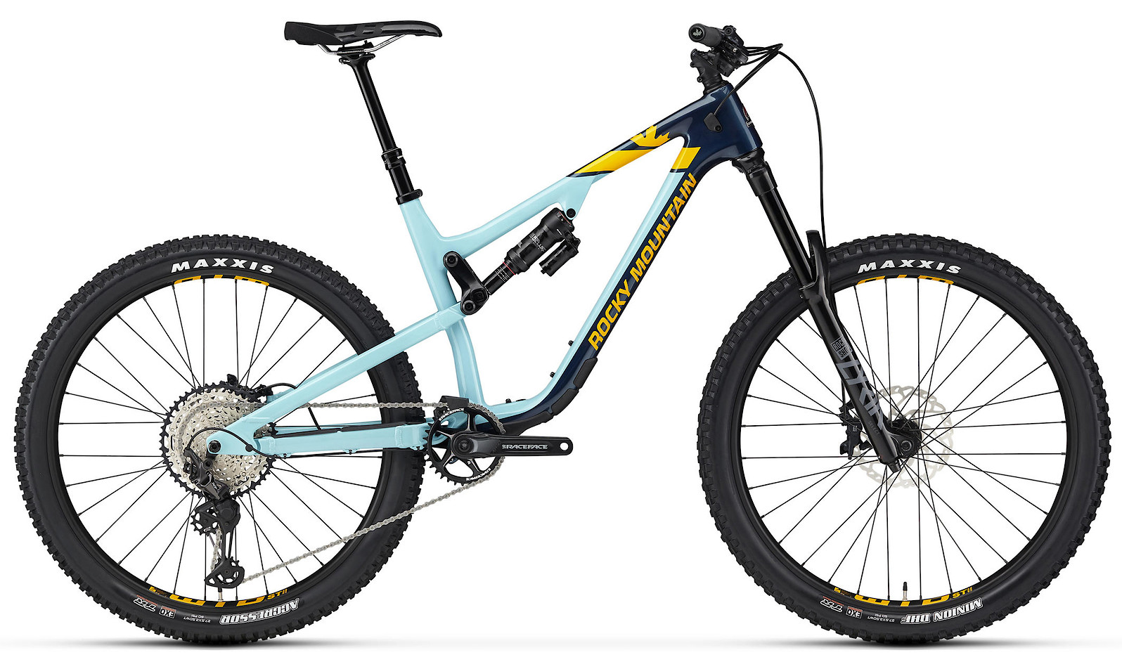 2020 Rocky Mountain Altitude Carbon 50 Navy Light Blue and Yellow