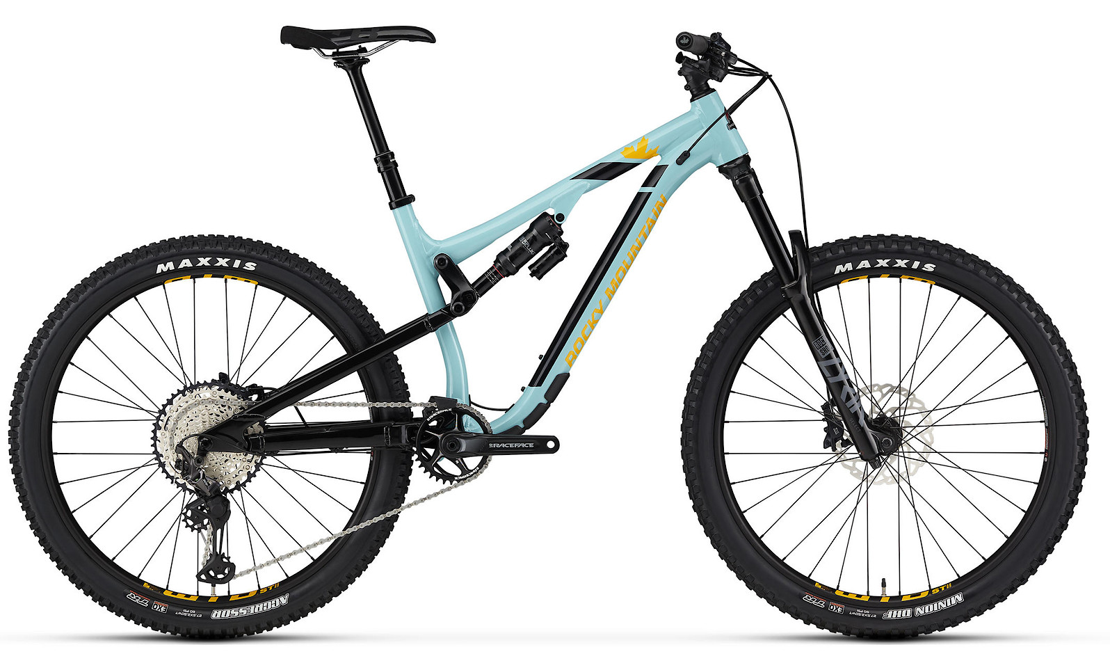 2020 Rocky Mountain Altitude Alloy 50 Navy Light Blue and Yellow