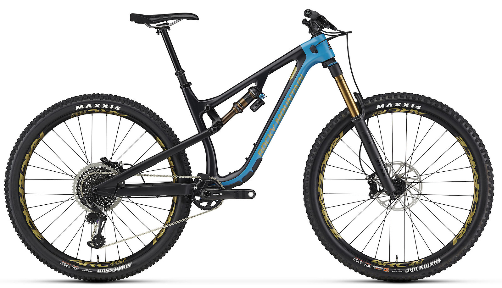 2020 Rocky Mountain Instinct Carbon 90 BC Edition Black Blue and Yellow