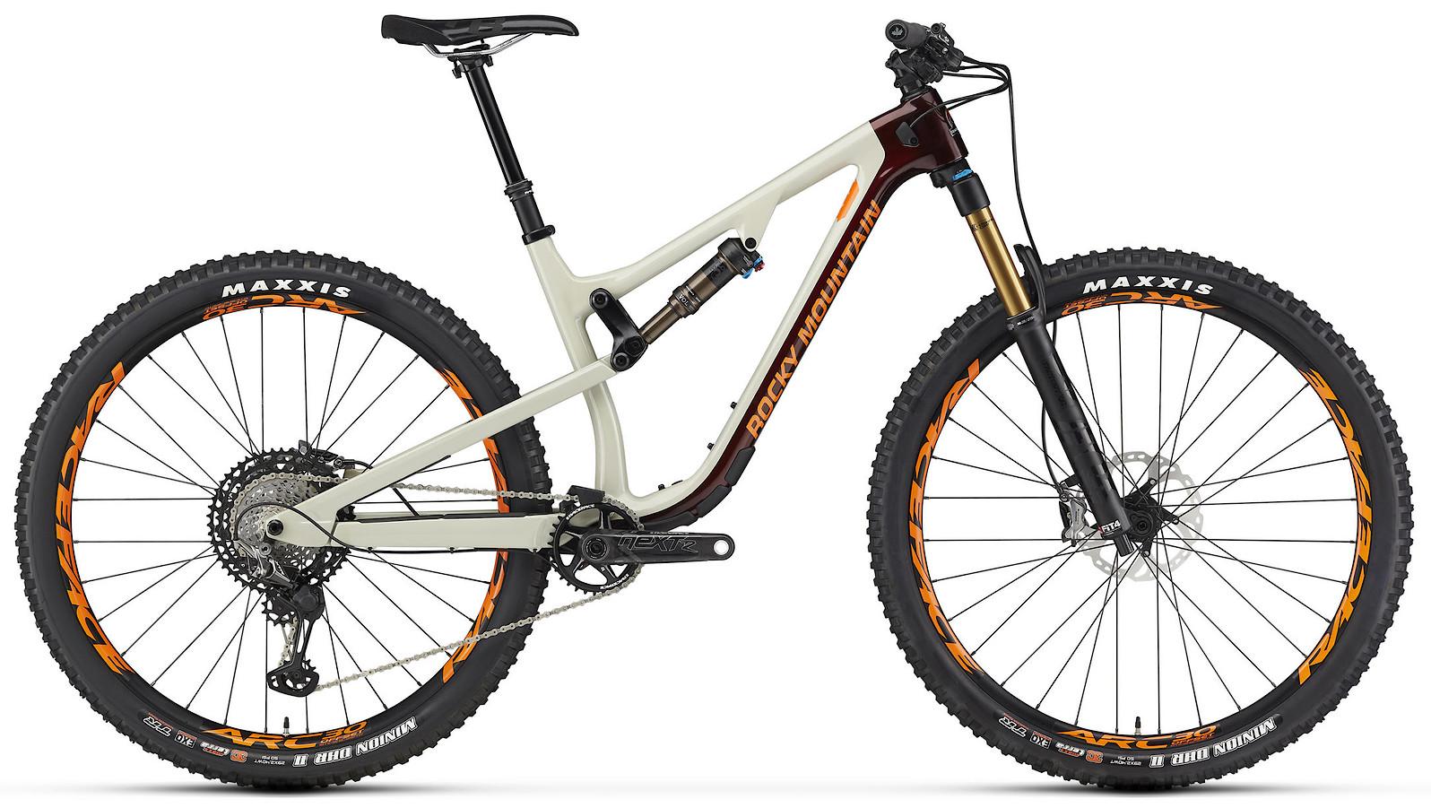 2020 Rocky Mountain Instinct Carbon 90 Beige Dark Red and Orange