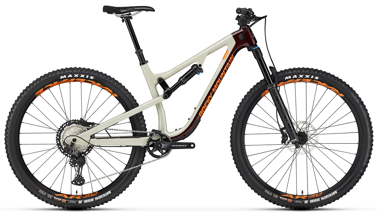 2020 Rocky Mountain Instinct Carbon 70 Beige Dark Red and Orange