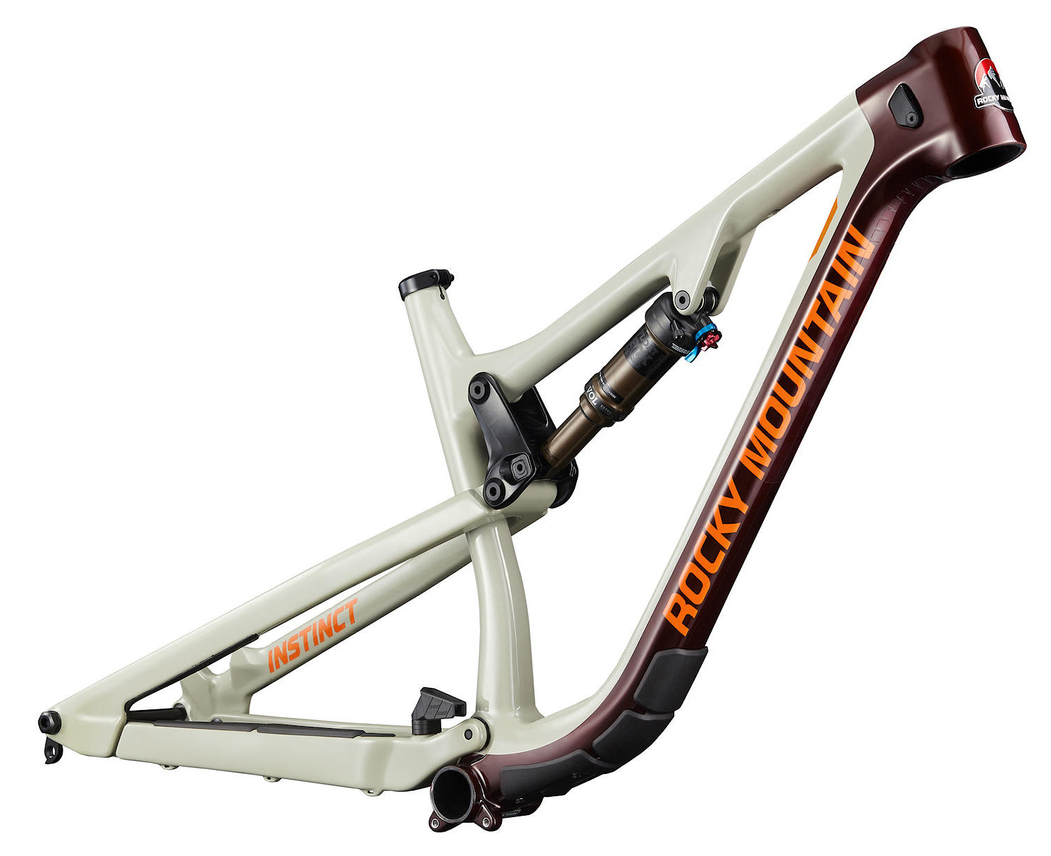 2020 Rocky Mountain Instinct Carbon Frame Beige Dark Red and Orange