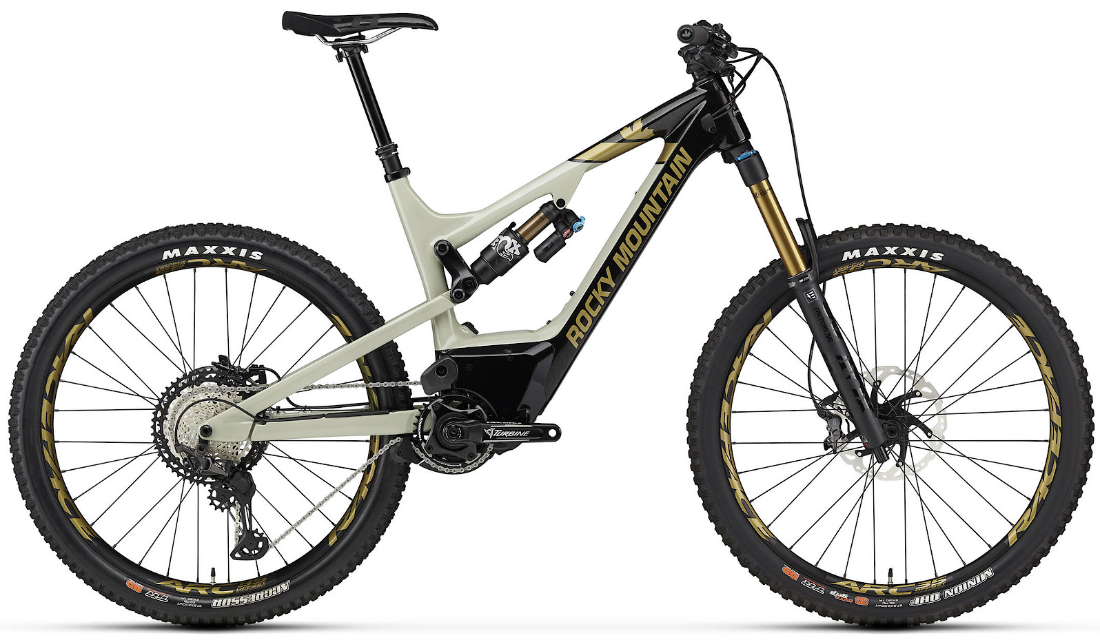 2020 Rocky Mountain Altitude Powerplay Carbon 90 Rally Edition Black Beige and Gold