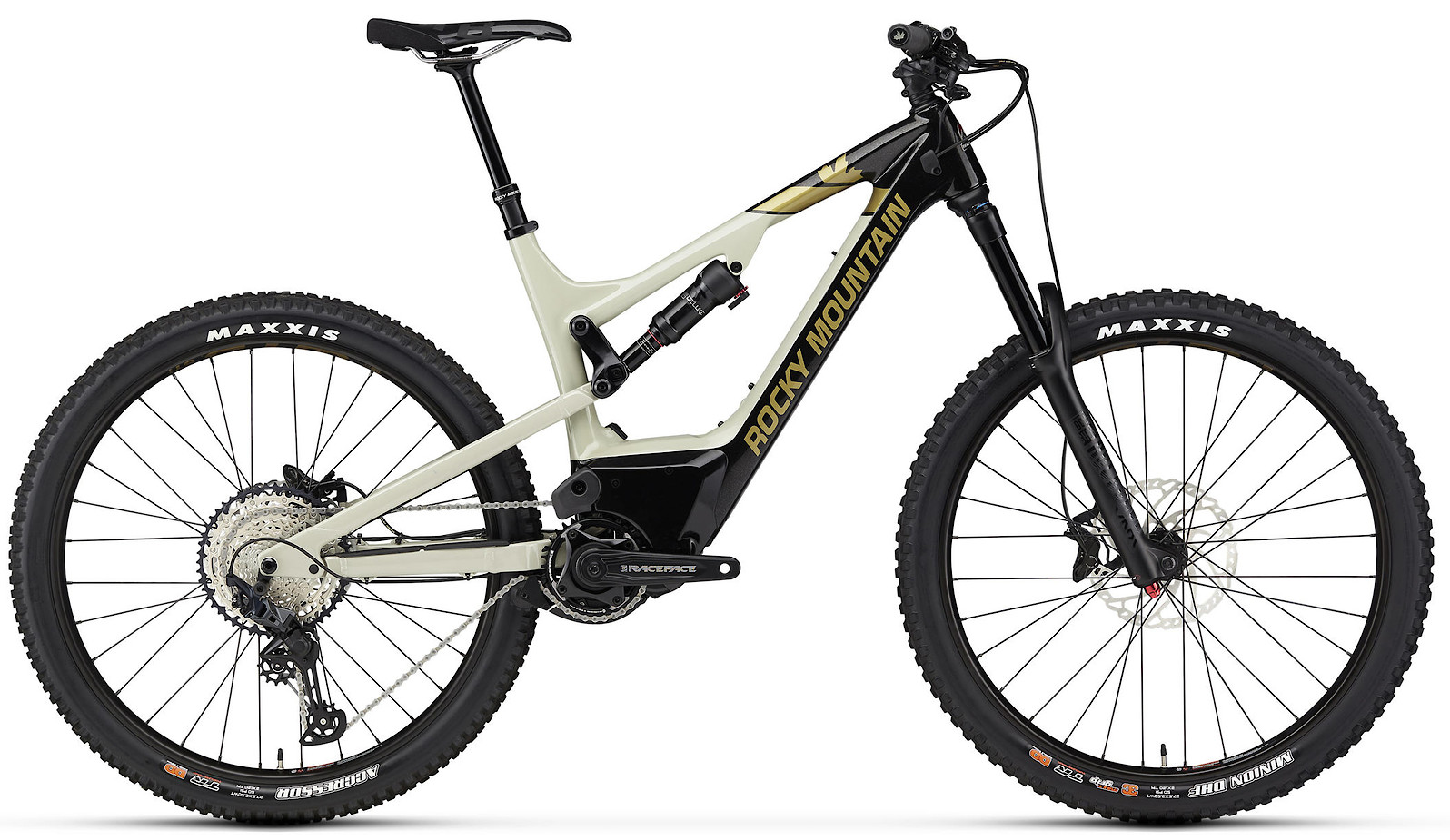 2020 Rocky Mountain Altitude Powerplay Carbon 50 Black Beige and Gold