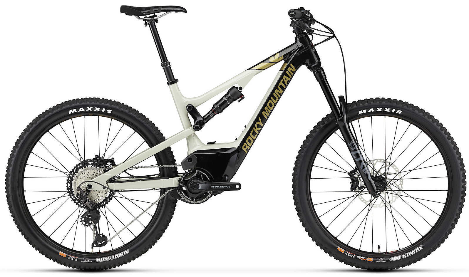 2020 Rocky Mountain Altitude Powerplay Alloy 70 Black Beige and Gold