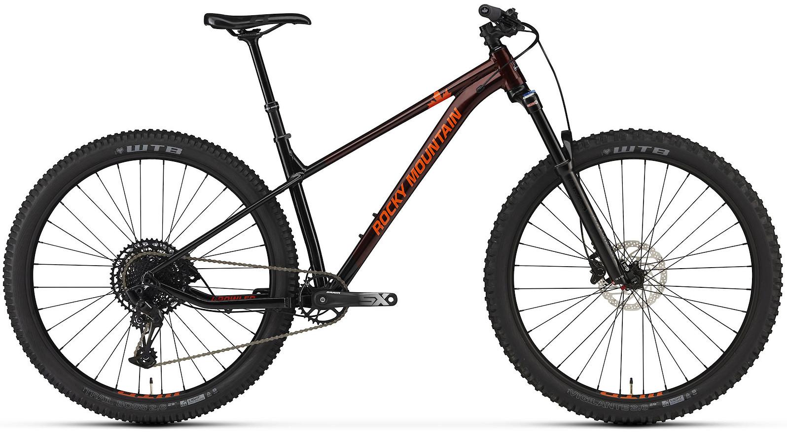 2020 Rocky Mountain Growler 40 Dark Red Black and Orange