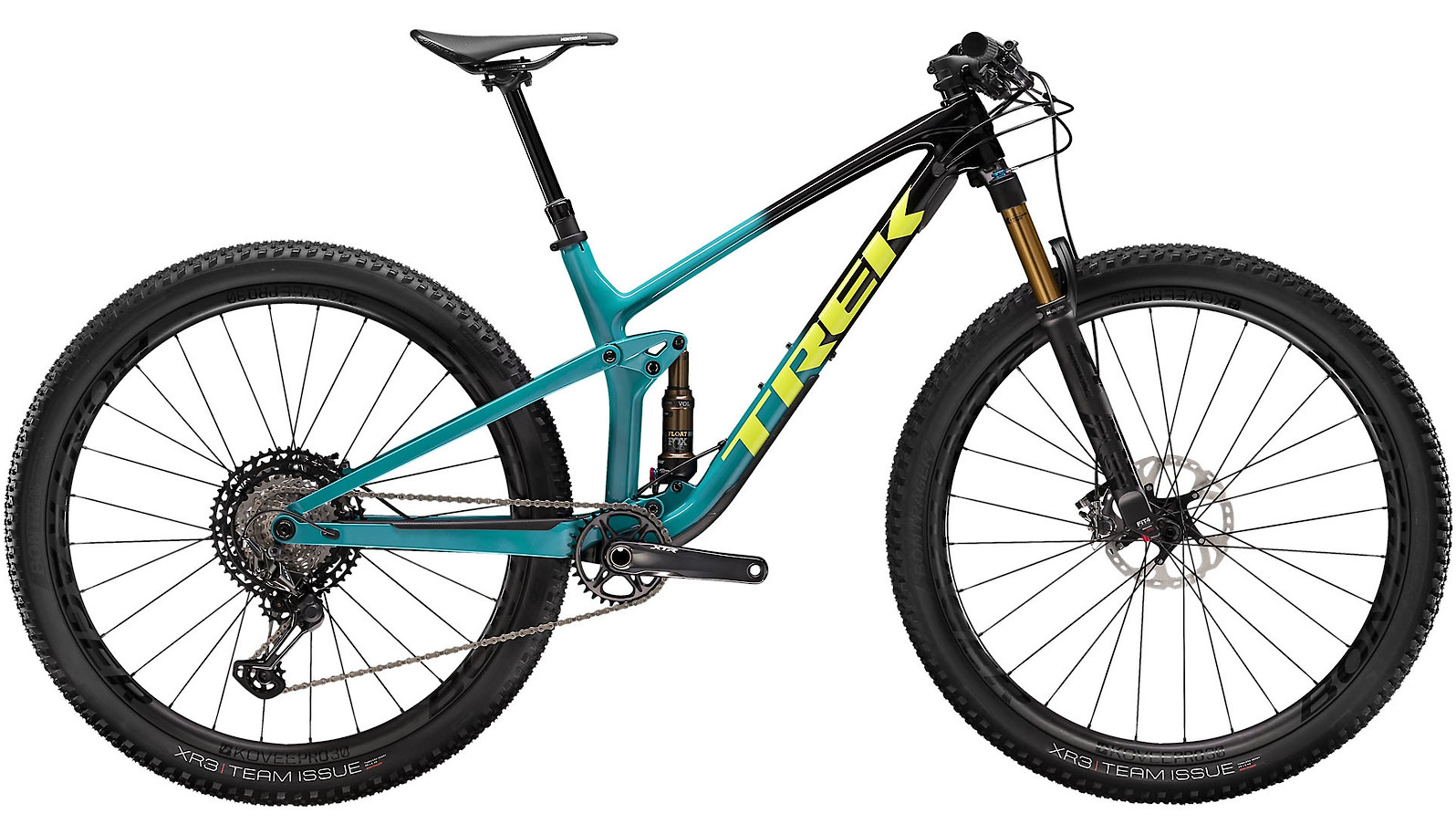 2020 Trek Top Fuel 9.9 XTR Trek Black to Teal Fade