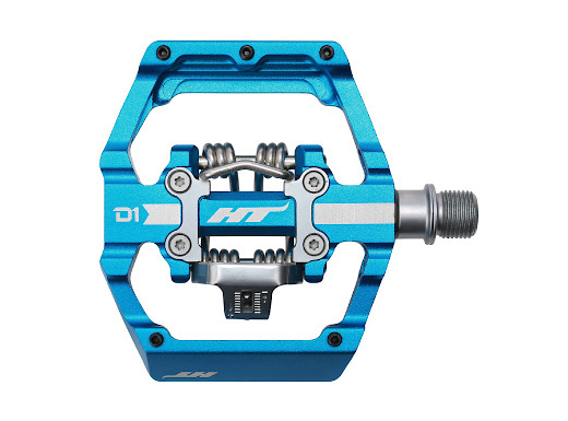 HT Components X2 Mountain Bike Clipless Pedals Blue