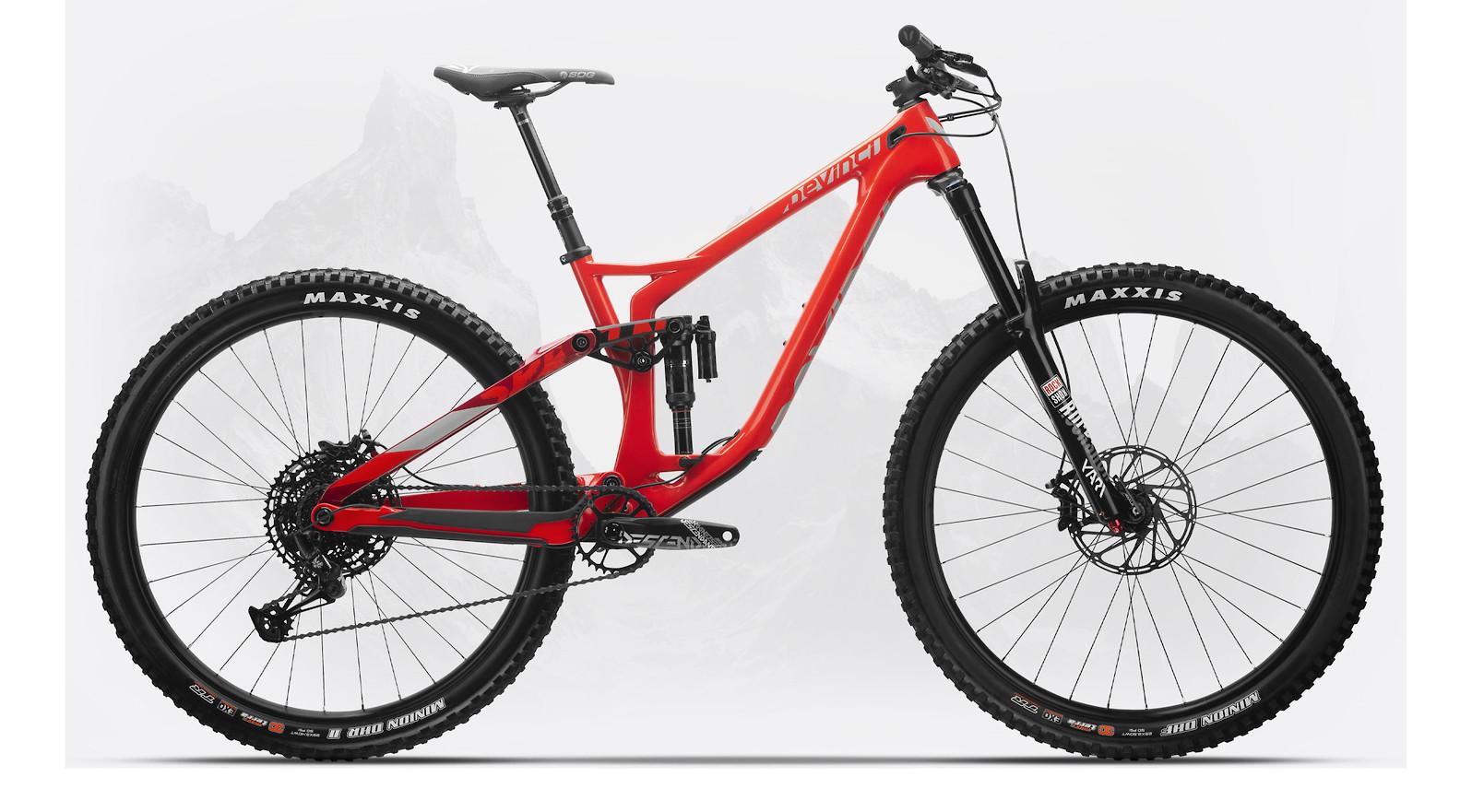 2020 Devinci Spartan Carbon 29 NX (Gloss Red/Silver)