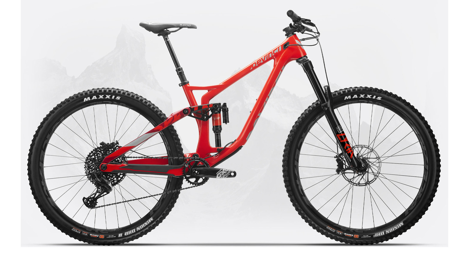 2020 Devinci Spartan Carbon 29 X01 LTD (Gloss Red/Silver)