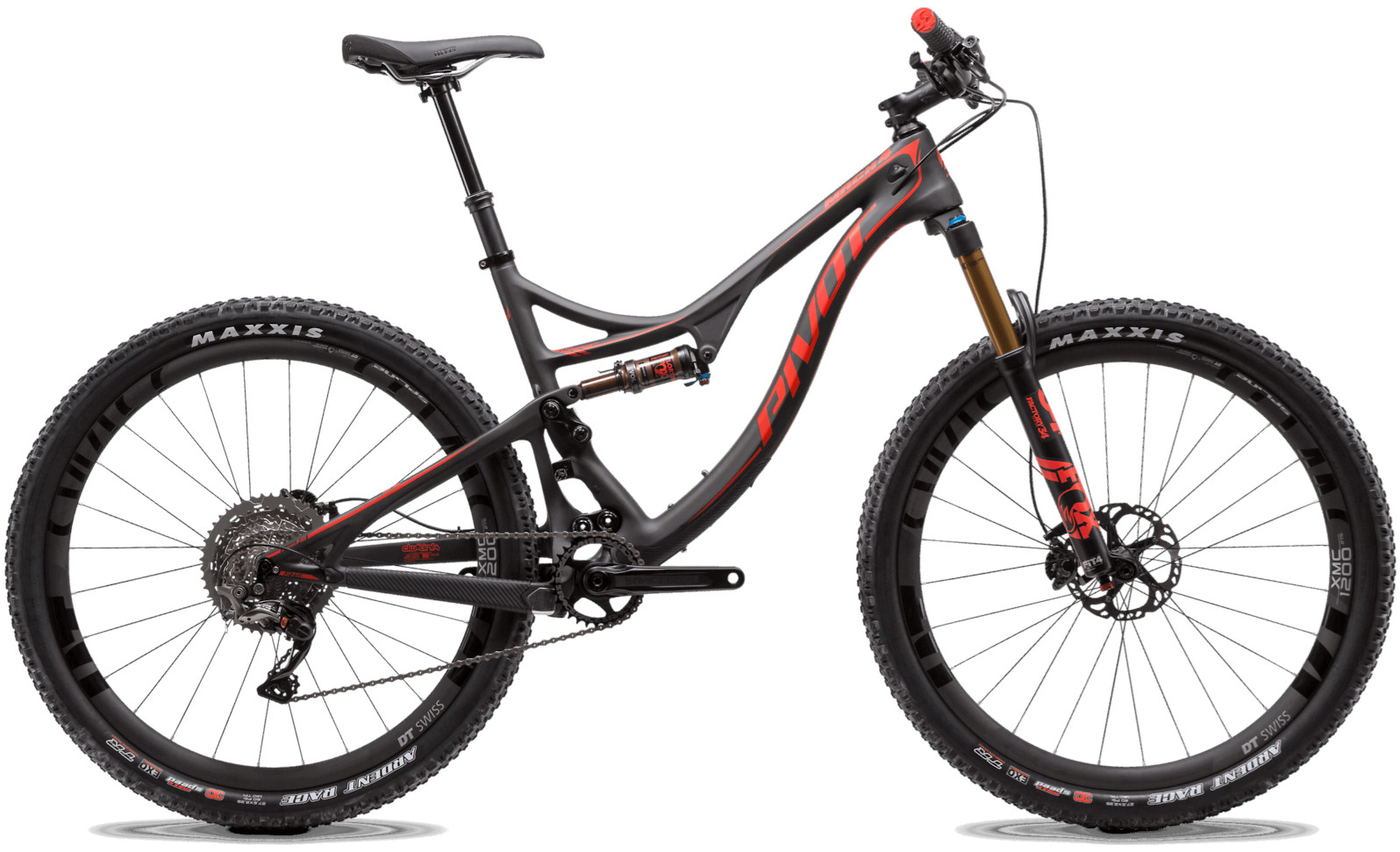 2020 Pivot Mach 4 Factory Red (Team XTR build pictured)