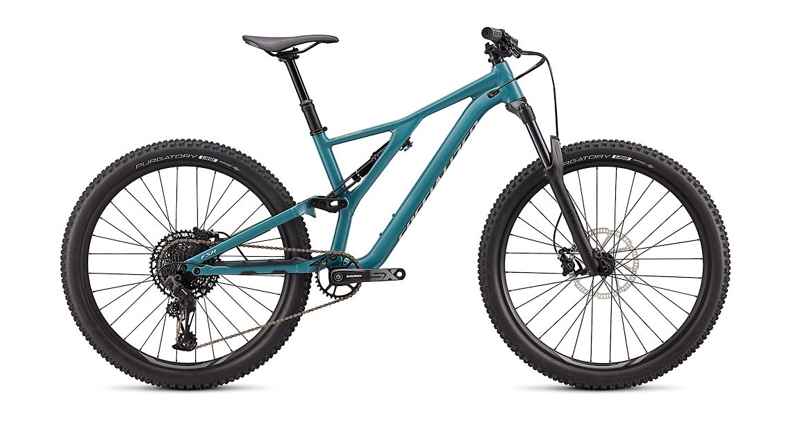 2020 Specialized Stumpjumper ST Alloy 27.5 - Gloss Dusty Turquoise / White Mountains