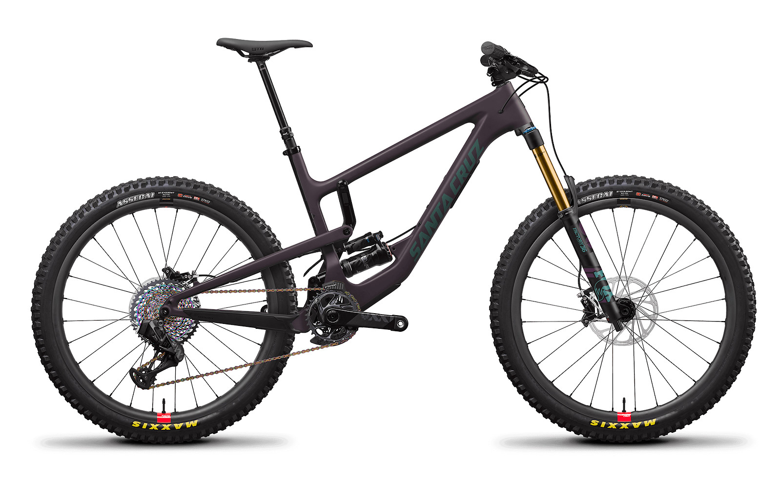 2020 Santa Cruz Nomad Carbon CC XX1 AXS Reserve (Eggplant and Aquarius Green)