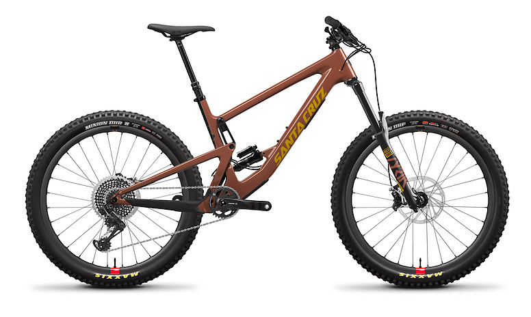 "2020 Santa Cruz Bronson Carbon CC X01 (""+"" Build with Reserve wheels, Red Tide and Yellow)"