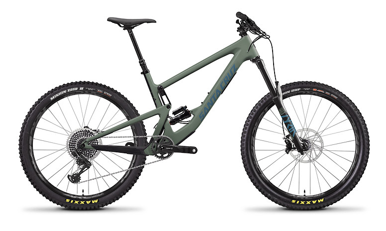 2020 Santa Cruz Bronson Carbon CC X01 (Regular Build, Matte Olive and Blue)