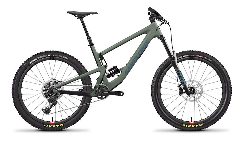 2020 Santa Cruz Bronson Carbon CC X01 (Regular Build with Reserve wheels, Matte Olive and Blue)