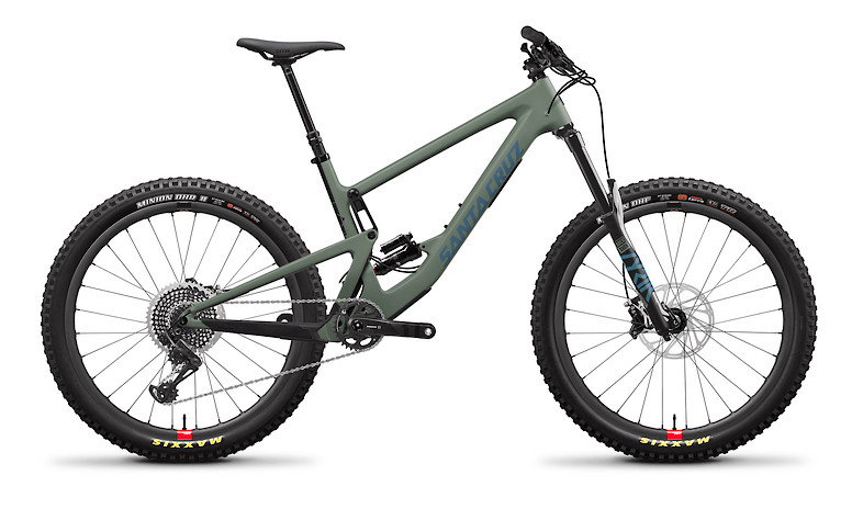 "2020 Santa Cruz Bronson Carbon CC X01 (""+"" Build with Reserve wheels, Matte Olive and Blue)"
