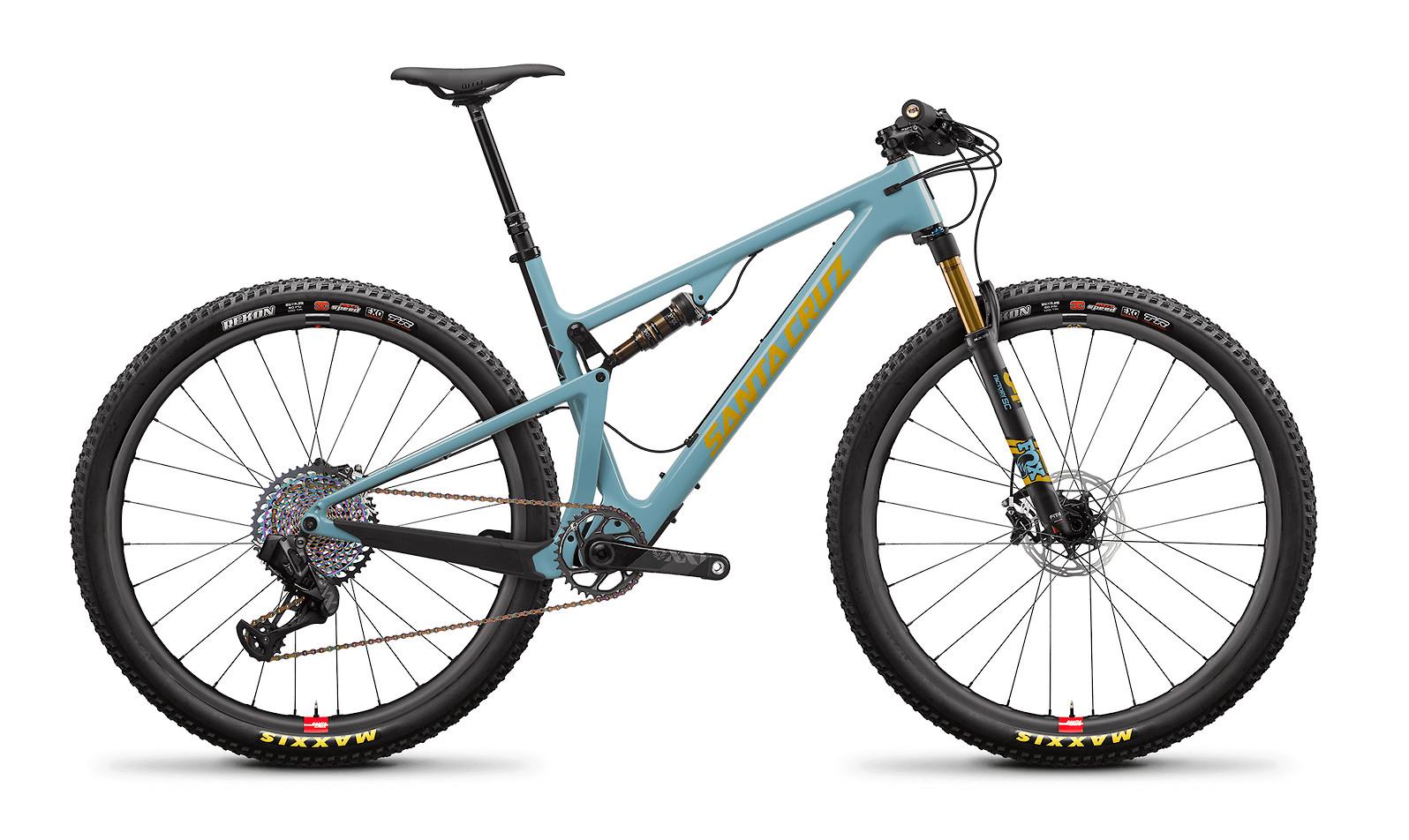 2020 Santa Cruz Blur Carbon CC XX1 AXS Reserve TR (Gloss Aqua and Yellow)