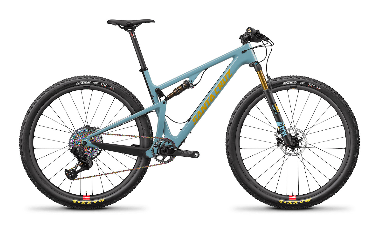 2020 Santa Cruz Blur Carbon CC XX1 AXS Reserve (Gloss Aqua and Yellow)