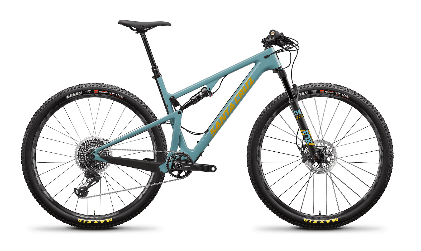 2020 Santa Cruz Blur Carbon CC X01 TR (Gloss Aqua and Yellow)
