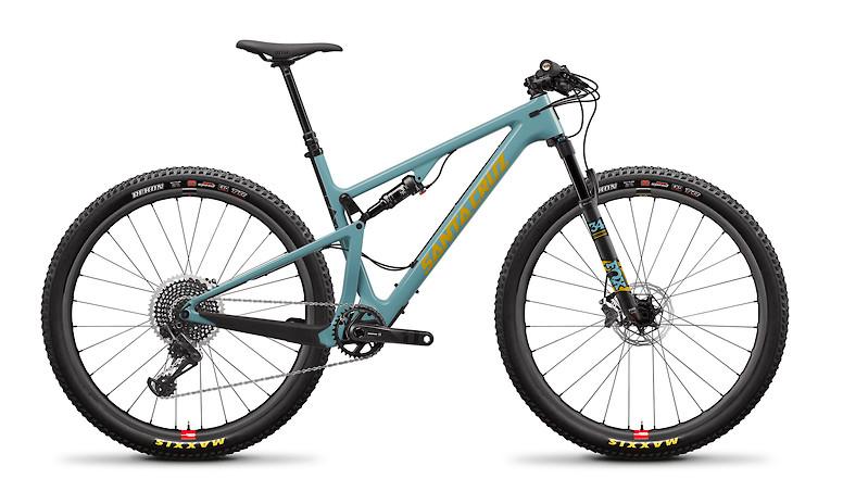 2020 Santa Cruz Blur Carbon CC X01 TR (With Reserve wheels, Gloss Aqua and Yellow)