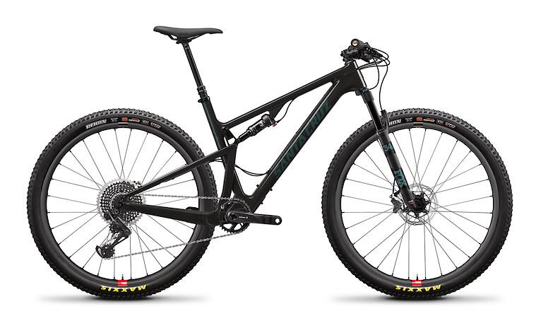 2020 Santa Cruz Blur Carbon CC X01 TR (With Reserve wheels, Gloss Carbon and Aquarius Green)