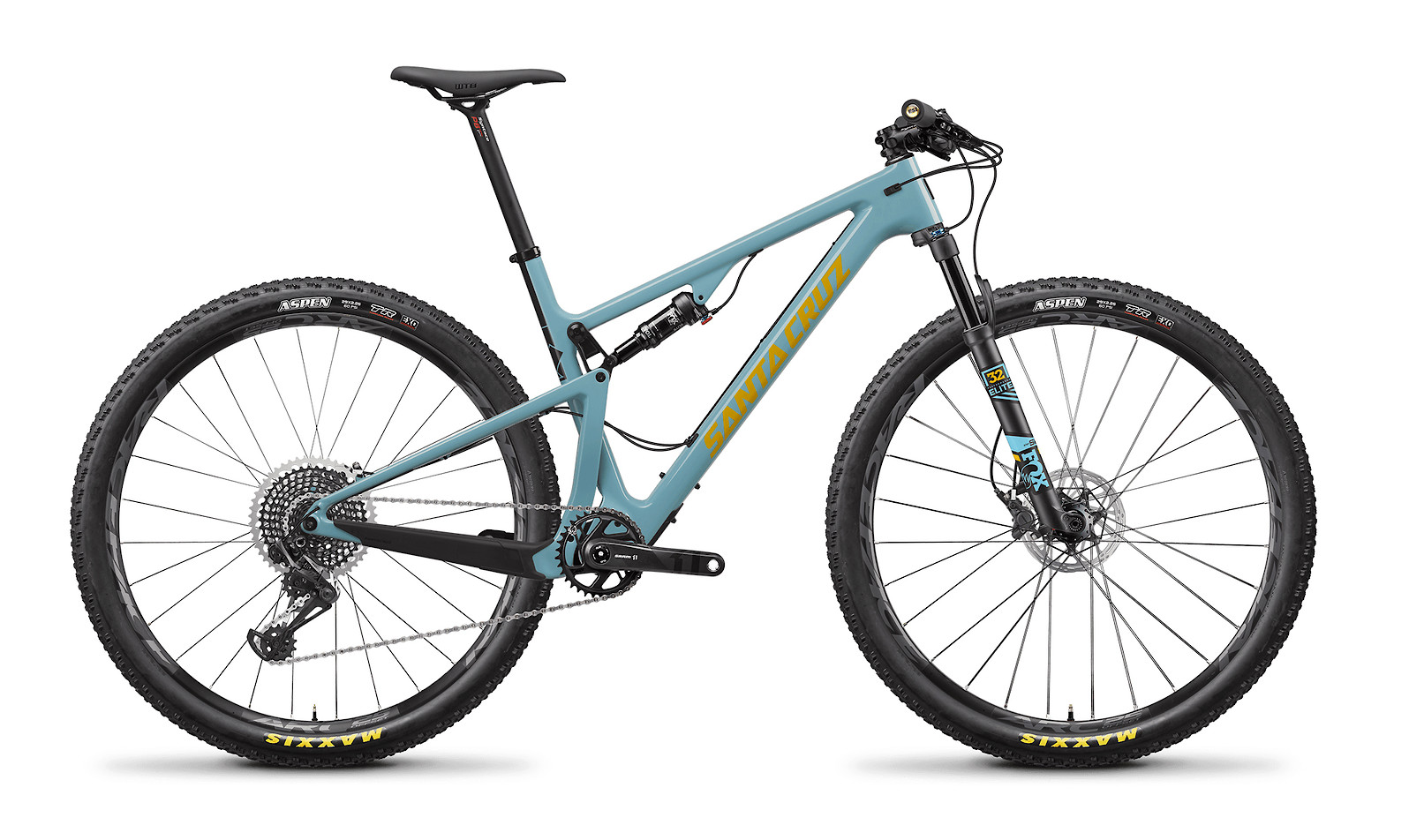 2020 Santa Cruz Blur Carbon CC X01 (Gloss Aqua and Yellow)