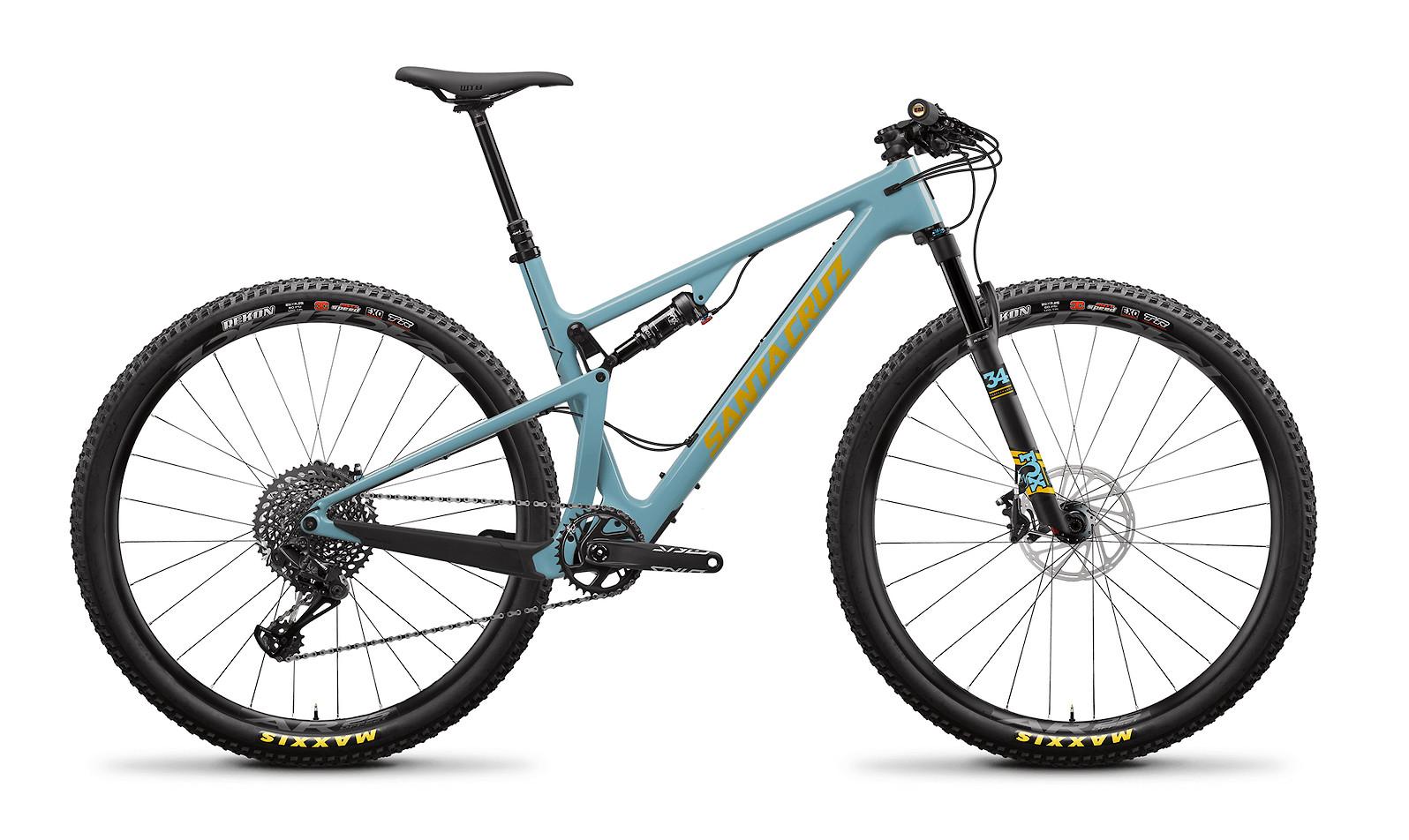 2020 Santa Cruz Blur Carbon C S TR (Gloss Aqua and Yellow)