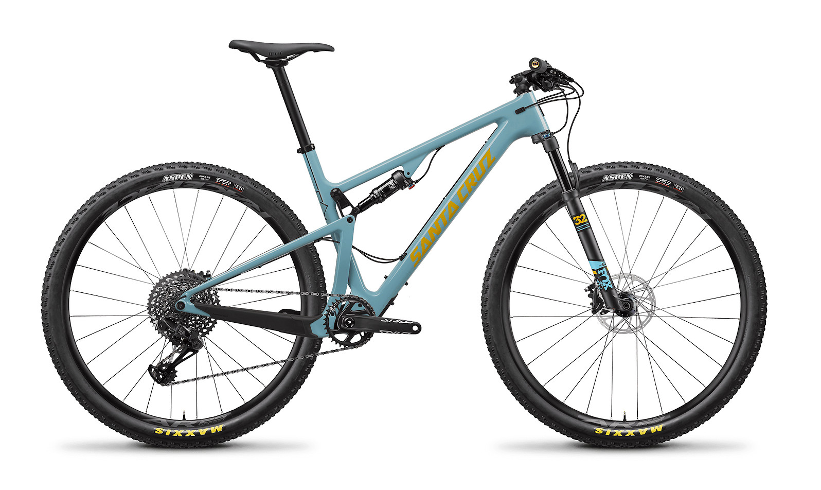 2020 Santa Cruz Blur Carbon C S (Gloss Aqua and Yellow)