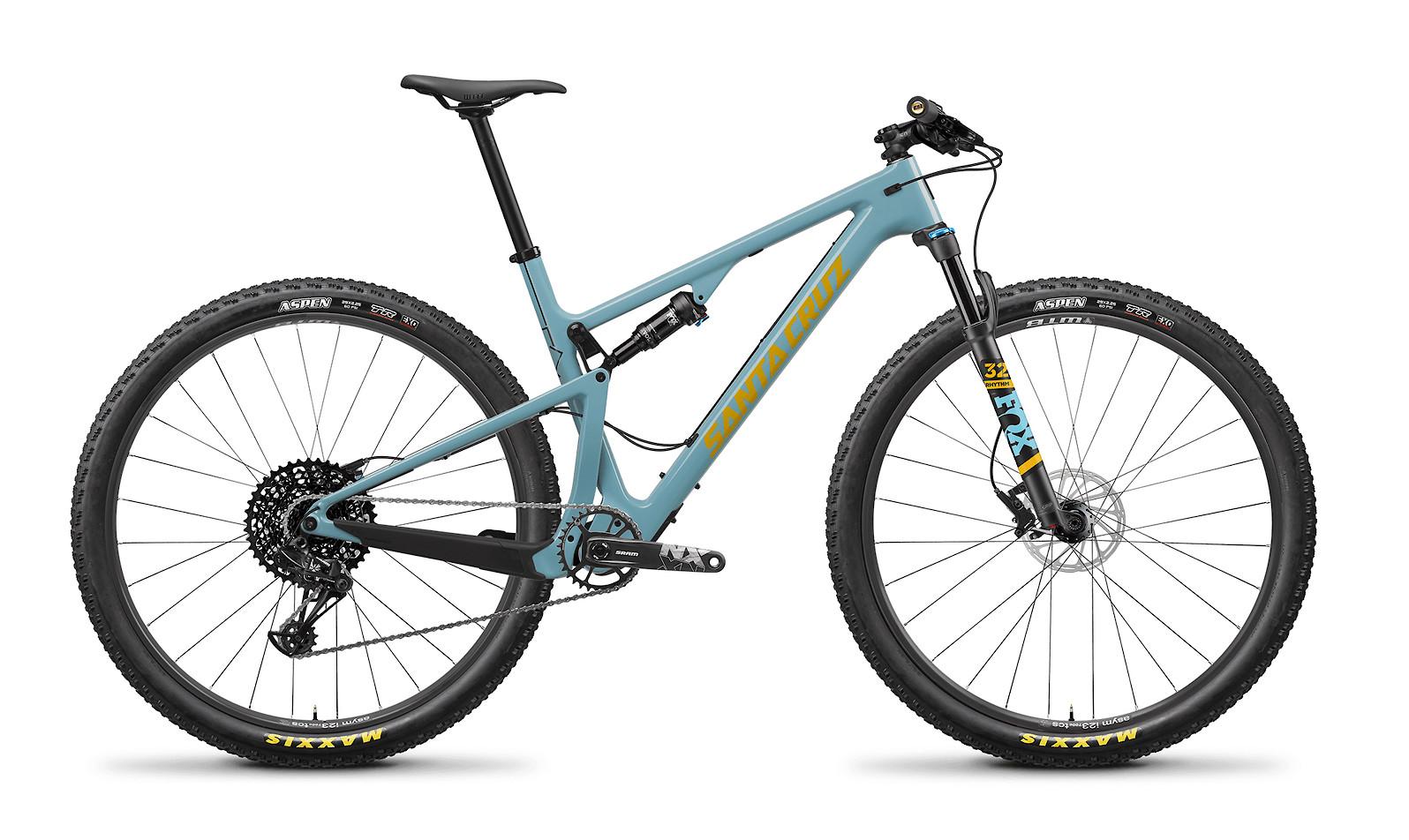 2020 Santa Cruz Blur Carbon C R (Gloss Aqua and Yellow)