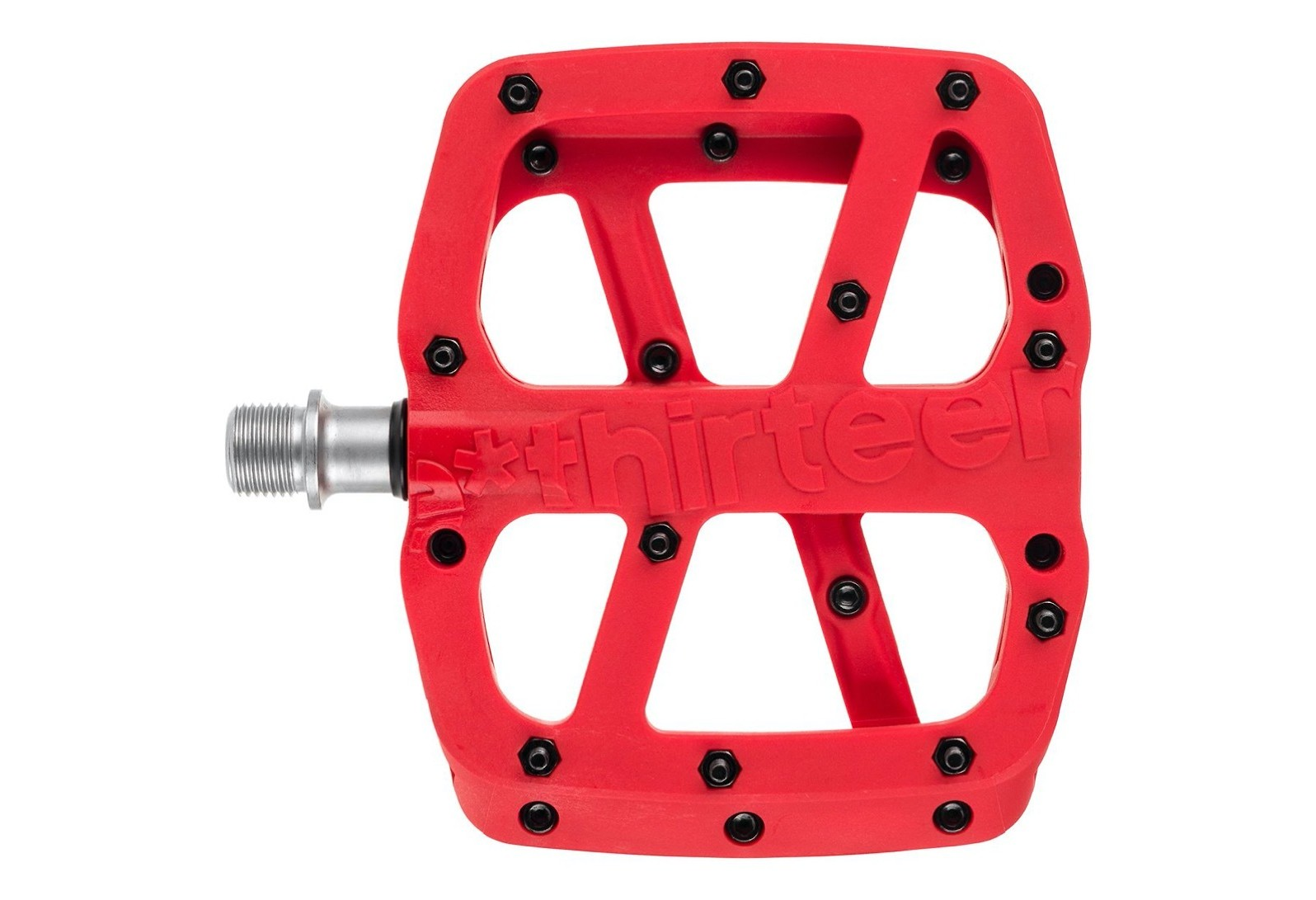 e*thirteen Base Flat Pedal (Red)