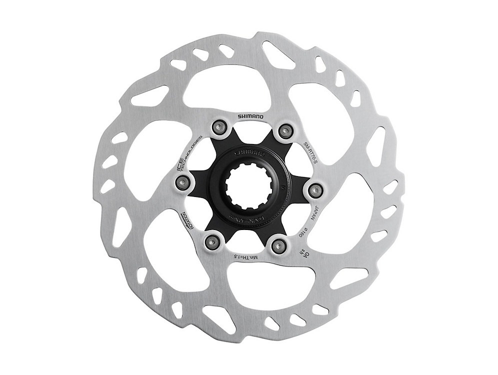 EXTERNAL SERRATION Details about  /Shimano Center Lock Bike Rotor SM-RT70 160//140mm w//lock ring