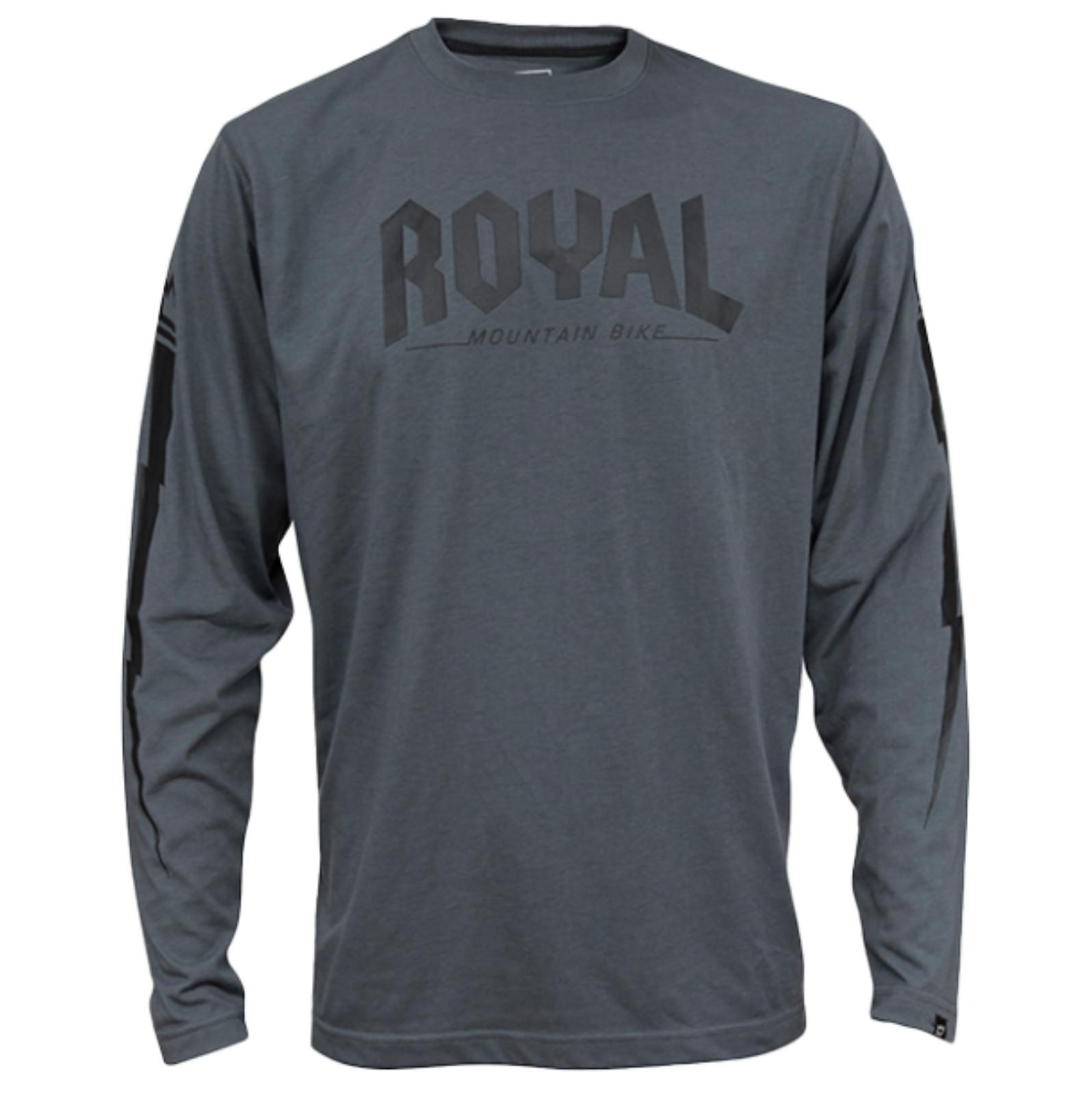 Royal 2020 Core LS Riding Jersey - Grey