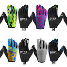 Dirt Gloves Mountain Bike MTB Gloves | Non-Padded | Sweat Cloth Gloves