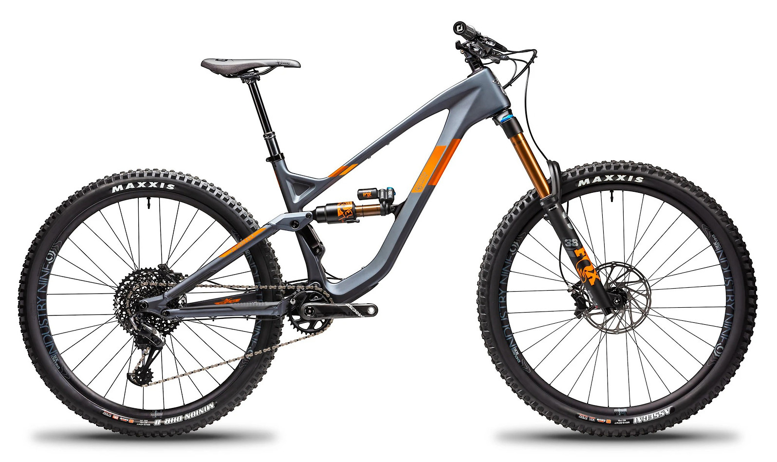 2020 Guerrilla Gravity Gnarvana (Race build shown; Orange decals)